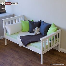 Toddler solid pine bed - new