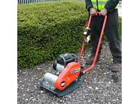 ELECTRIC WACKER PLATE COMPACTION WHACKER GRAVEL RED CHIPS hardcore type 1 soil sand DIY driveway