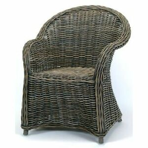 Brand New Hand Woven Rattan Dining Chairs Arm Chairs