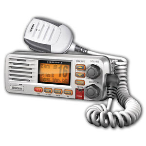 NEW UNIDEN UM 380 CLASS D FIXED MOUNT MARINE VHF RADIO - WHITE