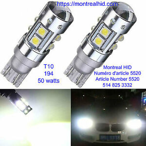 T10 194 50W Headlight Durable and Practical Fog