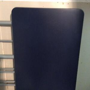 Navy blue IKEA desk top