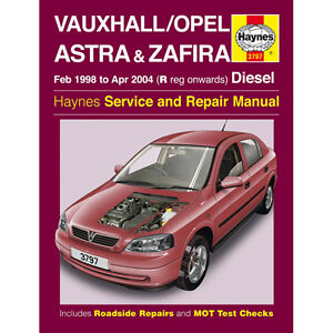 New-Haynes-Manual-Vauxhall-Astra-Zafira-Diesel-98-04-Workshop-Repair-Book-3797