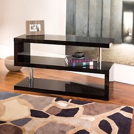 TV Stand - Black Gloss - Zigzag design from Dwell