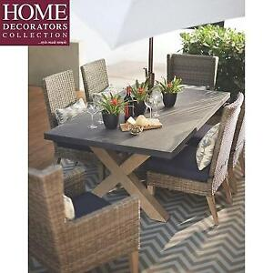 NEW* HDC NAPLES PATIO DINING TABLE - 128978028 - HOME DECORATORS COLLECTION ALL WEATHER RECTANGULAR