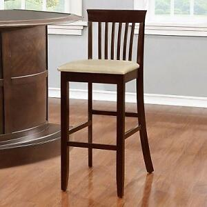 NEW JAMES BAR STOOL JUTE - 30'' SEAT HEIGHT - PVC UPHOLSTERY CHAIR 105148526