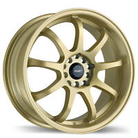 """ATTACK WHEEL MAG JANTE ROUE GOLD 18"""" 5X14.3 5X100 NEW SPECIAL"""