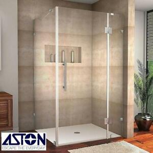 NEW ASTON AVALUX SHOWER ENCLOSURE - 122465249 - COMPLETELY FRAMELESS STAINLESS STEEL BATH BATHROOM SHOWERS ENCLOSURES...