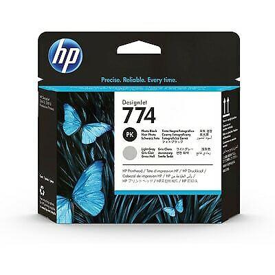 HP 774 DesignJet Printhead, Photo black, light gray (P2W00A)