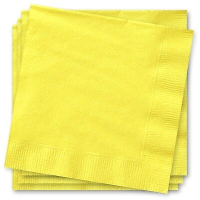 Sonnengelbe Papierservietten, Tischdeko in gelb, 20er Pack, 33x33cm ()