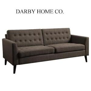 NEW DARBY HOME CO. TUFTED SOFA - 129207694 - BROWN