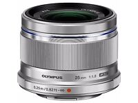 Olympus 25mm 1.8 lens (silver) - brand new in box