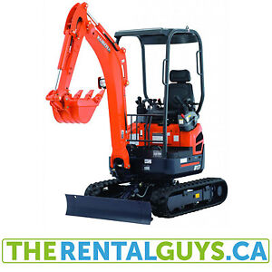COMPACT EXCAVATOR U17 FOR RENT FREE DELIVERY&PICKUP IN GUELPH