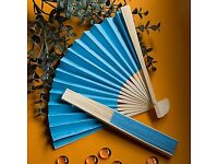 Blue folding fan - £1.00 plus P&P