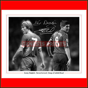 Steven Gerrard Kenny Dalglish Liverpool FC - Signed Photo Print New Glossy 10x8