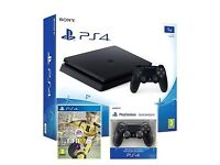 PS4 1TB slim with controllers and FIFA 17