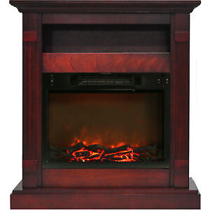 Prime Cambridge Sienna 34 In Electronic Fireplace Mantel With Insert In Cherry Download Free Architecture Designs Pushbritishbridgeorg