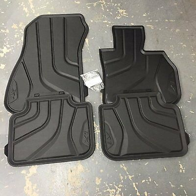 BMW Genuine All Weather Rubber FrontRear Set Car Floor Mats F48 X1 51472406753