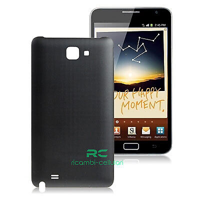 SCOCCA posteriore per Samsung N7000 nero BACK cover copri batteria NOTE BLACK