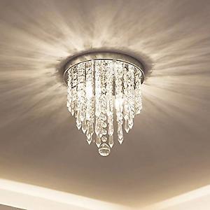 Lifeholder Mini Chandelier Crystal Lighting 2 Lights Flush Mount