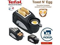 *BRAND NEW BOXED UP & SEALED* Tefal TT550015 Toast N' Egg Two Slice Toaster - Black