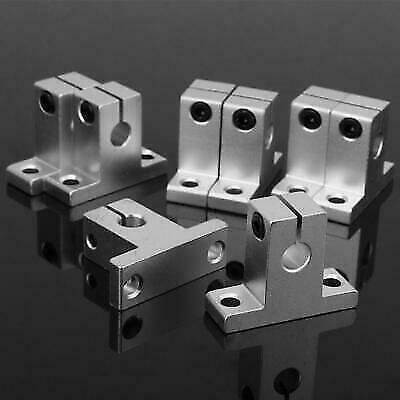8pcs Sk8 Bearing Aluminum Alloy Linear Rail Shaft Guide Support Stand Hot