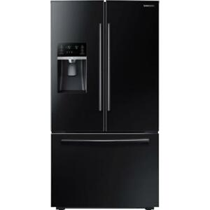 109-  Réfrigérateur   Stainless Noir  Frigo SAMSUNG  Black Stainless Fridge