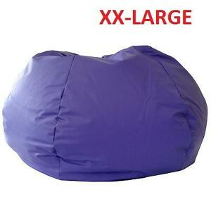 NEW GOLD MEDAL XX LARGE BEAN BAG - 107834314 - PURPLE LEATHER LOOK