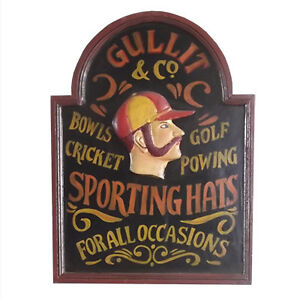 Wooden Hat Sign