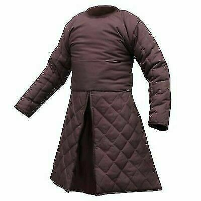 Medieval armor Brown Color Costumes dress Gambeson sca larp
