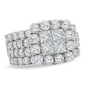 4 karat engagement ring with 2 matching bands