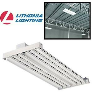 NEW* LL FLUORESCENT 6 LIGHT FIXTURE - 123646076 - LITHONIA LIGHTING HIGH BAY INDUSTRIAL GREY