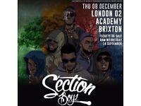 Section Boyz Brixton Academy Thurs 8th Dec x5