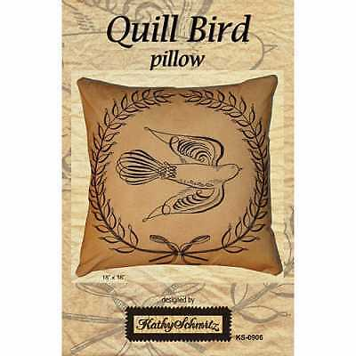 Kathy Schmitz Quill Bird Pillow Embroidery Pattern FREE US SHIPPING ()