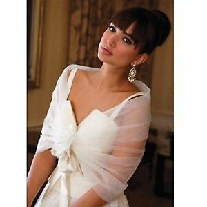 Bridal shawl or cover up in Ivory color