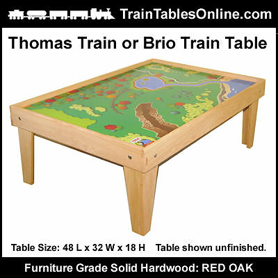 - FINISHED OAK TRAIN TABLE Playtable for THOMAS Playboard
