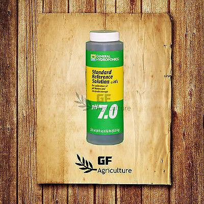 General Hydroponics pH 7.0 Calibration Solutions 8 oz -meter buffer -
