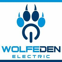 WolfeDen Electric.  Fully Insured Master Electrician
