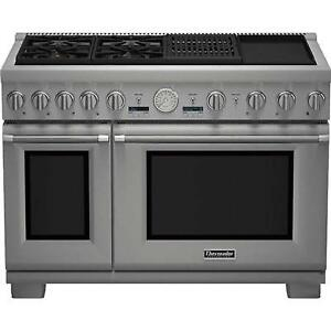 48-inch Professional Thermador Dual-Fuel Range, Stainless