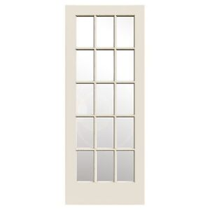 32x 80 French door never installed. Factory primed. Solid wood.