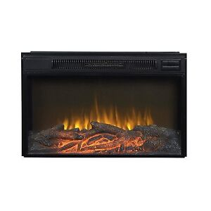 Flamelux Wide Electric Fireplace Insert Size: 30""