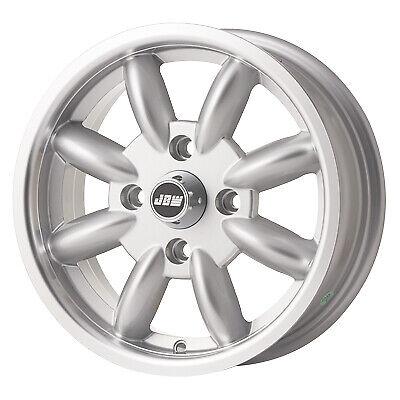 5.5 x 14 JBW Minilight Alloy Wheels to fit Morris Minor Silver/hl (x4)