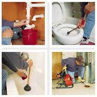 * DRAIN CLEANING * Toilets/Sewer/Sinks * PLUMBING Lic'd & Ins'd