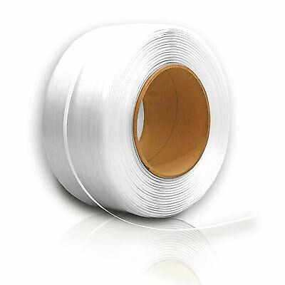 "3/4"" X .050 White Composite Cord Strapping"