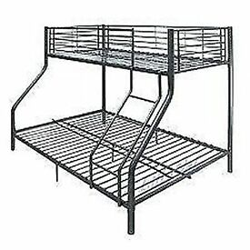 Brand New Triple Sleeper Metal BunkBed Frame Single/Double Decker Bunk bed with Mattresses of Choice