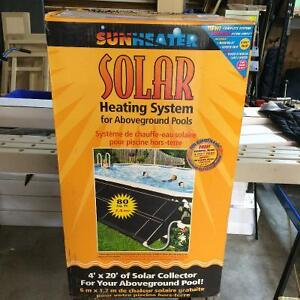 Solar heater for above pool