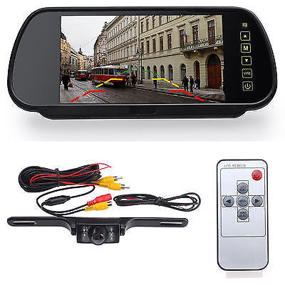 A typical rear view reversing camera kit