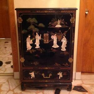 Asian lacquer cabinet