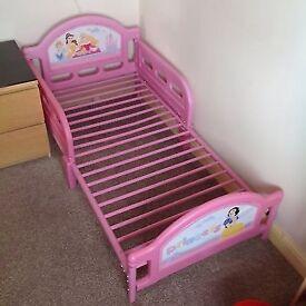 NEW PINK PRINCESS TODDLER BED
