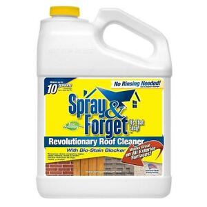 Spray & Forget Moss Remover for Cleaning Roof, Siding, and Patio